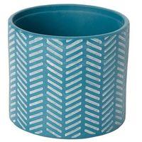 Doniczki i podstawki, Doniczka ceramiczna GoodHome ozdobna 14 cm niebieska