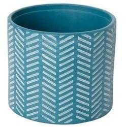 Doniczka ceramiczna GoodHome ozdobna 14 cm niebieska
