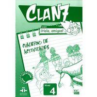 Książki do nauki języka, Clan 7 con hola amigos 4 ćwiczenia (opr. miękka)