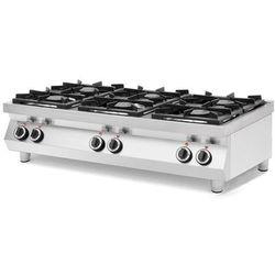 Kuchnia gazowa 6-palnikowa Kitchen Line stołowa | 3x 6 kW + 3x 3,5 kW | 1200x700x(H)310 mm