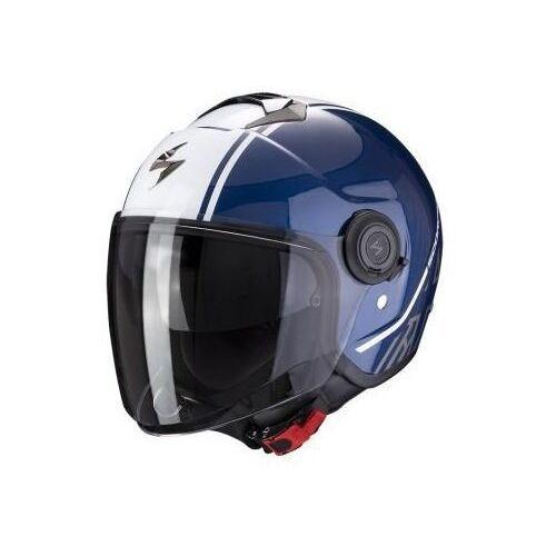 Kaski motocyklowe, SCORPION KASK OTWARTYEXO-CITY AVENUE DARK BLUE-WHI