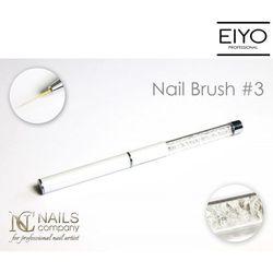 Designerski pędzel do stylizacji paznokci nr 3 Nails Company - 11 mm