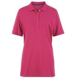 Shirt polo pique, rękawy do łokcia bonprix jeżynowo-czerwony