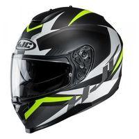 Kaski motocyklowe, HJC C70 KASK INTEGRALNY TROKY BLACK/FLO GREEN