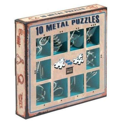 Gry dla dzieci, Łamigłówki metalowe 10 sztuk zestaw niebieski