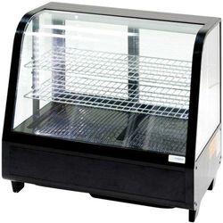 Witrynka ekspozycyjna chłodnicza 100 l LED czarna STALGAST 852104