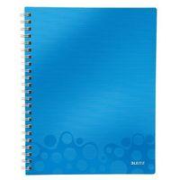 """Notesy, Notatnik z przekładkami """"Get Organised"""" LEITZ WOW A4 w kratkę niebieski"""