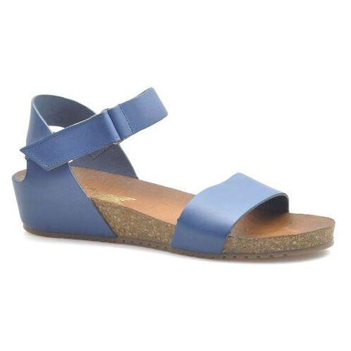 Sandały damskie, Sandały Lemar 40143 Niebieskie lico