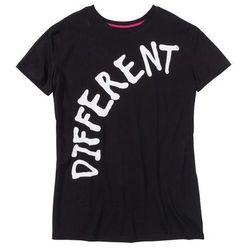 Shirt Boyfriend bonprix czarno-biały z nadrukiem