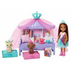 Mattel Barbie Princess Adventure Księżniczka Chelsea Zestaw do zabawy z łóżeczkiem