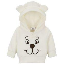 Bluza niemowlęca z polaru bonprix kremowy