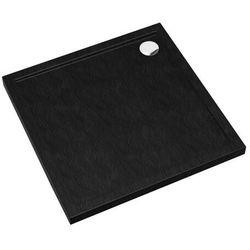 Brodzik akrylowy Sched-Pol Atla kwadratowy 90 x 4,5 cm czarny