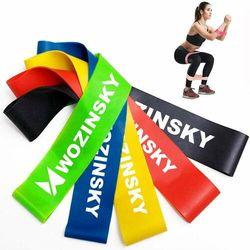 Wozinsky Zestaw 5x gumy taśmy oporowe do ćwiczeń joga fitness (WRBS5-01)