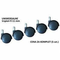 Pozostałe akcesoria meblowe, Uniwersalne kółka do krzesła lub fotela - trzpień o śr. 11 mm