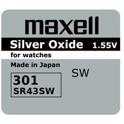 bateria srebrowa mini Maxell 301 / 386 / SR 43 / 186