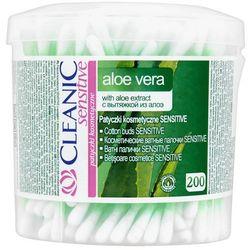 Cleanic Patyczki kosmetyczne sensitive Aloe Vera pudełko 200 szt.