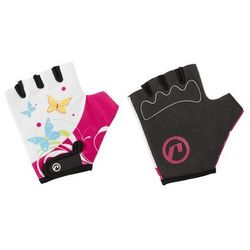 Rękawiczki dziecięce Accent Daisy biało-różowe S/M