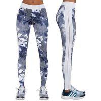 Pozostała odzież sportowa, Damskie sportowe legginsy BAS BLACK Code, Biało-niebieski, XL