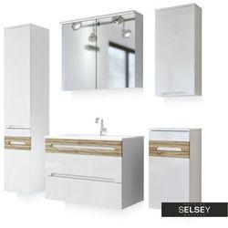SELSEY Zestaw mebli łazienkowych Warner średni