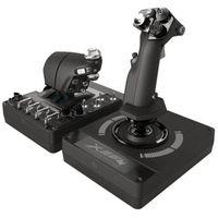 Joysticki, Logitech X56 H.O.T.A.S. - joystick og speeder - kabling - Joystick i przepustnica - PC