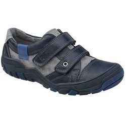 Sneakersy Półbuty KORNECKI 4921 Granatowe na rzepy - Granatowy ||Multikolor ||Popielaty