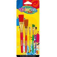 Pozostałe artykuły plastyczne, Pędzelki akrylowe Colorino kids 5 sztuk - PATIO