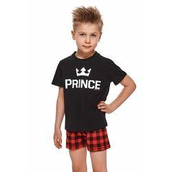 Krótka piżama chłopięca Prince czarna