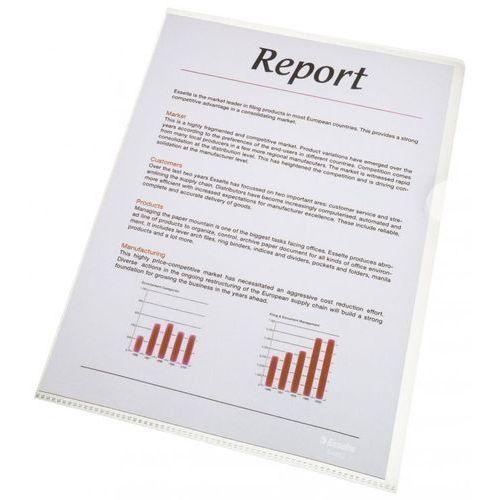 Pozostałe artykuły reklamowe, Ofertówka krystaliczna L Esselte 56218 A4/100szt.,105mic.