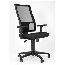 NOWY STYL Krzesło biurowe TAKTIK, oparcie siatka czarna, siedzisko czarne