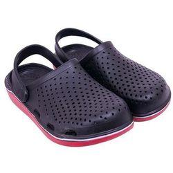 Buty męskie ogrodowe gładkie czarne 39