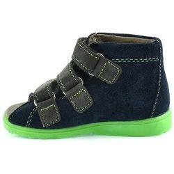 Dziecięce buty profilaktyczne Dawid 1041 - Zielony   Granatowy