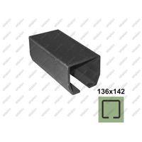 Przęsła i elementy ogrodzenia, Profil do bramy przesuwnej Fe, 136x142x6mm, L3m