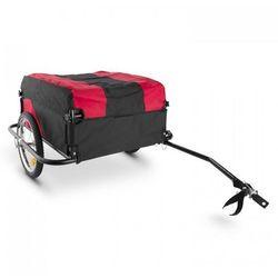 DURAMAXX Mountee Przyczepka rowerowa transportowa 130 l 60k g Rura stalowa czarno-czerwony