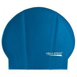 Czepek pływacki lateksowy Aqua Speed niebieski