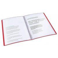 Pozostałe artykuły reklamowe, Album ofertowy A4 20 kieszeni Esselte Vivida czerwony 623991
