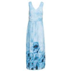 Sukienka letnia w kwiaty bonprix lodowy niebieski w kwiaty