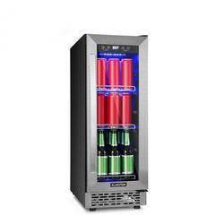 Klarstein Beerlager 56, lodówka na napoje, 56 l, 20 butelek, klasa energetyczna A, stal nierdzewna, kolor czarny