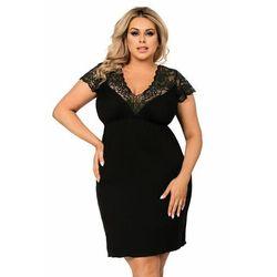 Donna tess czarna koszula nocna size plus
