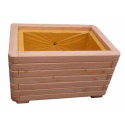 Prostokątna donica ogrodowa z litego drewna 15 kolorów - Galla