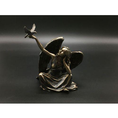 Rzeźby i figurki, SIEDZĄCY ANIOŁ Z GOŁĘBIEM VERONESE (WU75981A4)