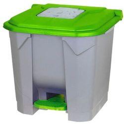 Kosz na odpady zielony otwierany przyciskiem nożnym 30l Kosz na odpady medyczne, Kosz na śmieci pedałowy 30l