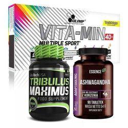 Zestaw dla taty BiotechUsa Tribulus Maximus 90tab+Olimp Multiple Sport 60caps+Essence Ashwagandha 90tab