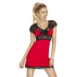Dkaren paulina czerwono-czarna damska koszula nocna