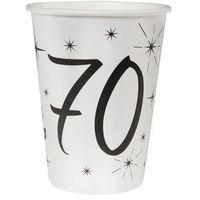 Naczynia jednorazowe, Kubeczki na siedemdziesiąte urodziny 70tka - 10 szt.