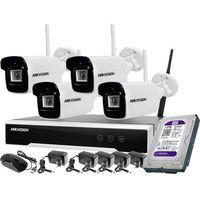 Zestawy monitoringowe, Monitoring zestaw bezprzewodowy Hikvision 4 kamery WiFi 4Mpx 1TB