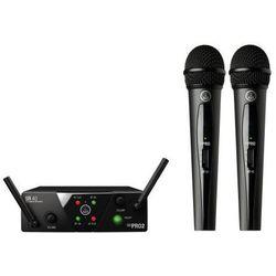 AKG WMS40 mini dual Vocal Set US25 A/C mikrofon bezprzewodowy podwójny (537.500 i 539.300) Płacąc przelewem przesyłka gratis!