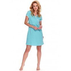 Kopertowa koszula nocna ciążowa i do karmienia TCB.9394 DN - Turkusowa