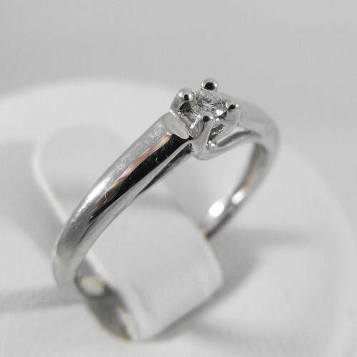 Pierścionki i obrączki, Złoty pierścionek z brylantem P1199