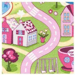 Wykładzina dywanowa Sweet Town 4 m różowa