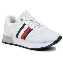 Sneakersy TOMMY HILFIGER - Mesh City Sneaker FW0FW04606 White YBS